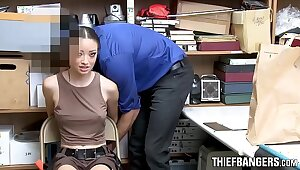 Hot Latina Disloyal to Raider Strip-Searched & Fucked