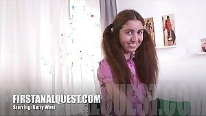 Hot anal sex almost chum around with annoy flavour chum around with annoy beautiful teen stunner Katty West
