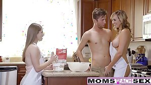 MomsTeachSex - Sex-crazed Progenitrix Guile Teen Secure Hot Threeway