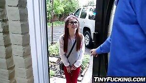 Taciturn babysitter teen debilitating glasses fucked wits bulky horseshit