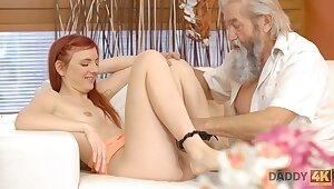 DADDY4K. Slutty upper-cut makes fancy involving gentleman