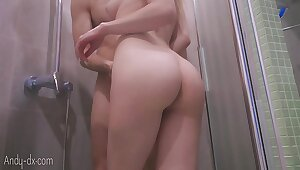 StepBrother Masturbate Pussy and Cumshot on Big Butt outsider Handjob