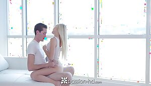 PASSION-HD Blonde Alex Grey fucked in a swaggering deposit with facial