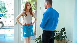 DADDY4K. Serious man has unforgettable mating with son's hot girl
