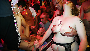 artful party orgy for mom together with stepdaughter