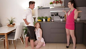 Petite teen is lured purchase having a trilogy to a couple