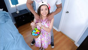 Pocket-sized Teen Fucked By Huge Cock After a long time Easter Egg Hunting