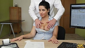 LOAN4K. Crazy sex on a difficulty desk in lodgings office for necessary