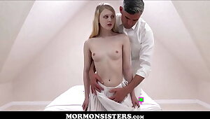 Mormon Girl Lily Rader Orgasms Space fully Having Sex With Mormon Denomination President Oaks